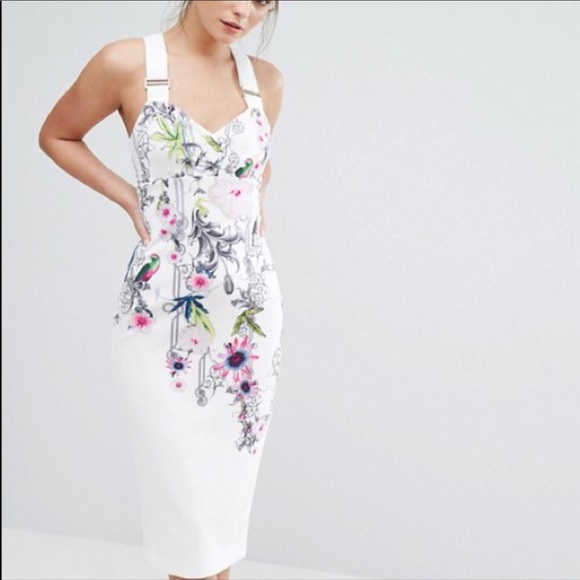 Ted Baker Dresses & Skirts - Ted Baker floral flowery white dress